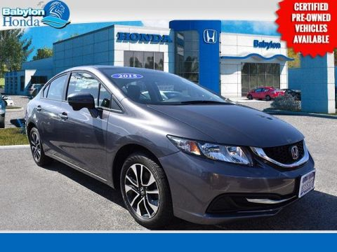Certified Pre-Owned 2015 Honda Civic EX FWD 4D Sedan